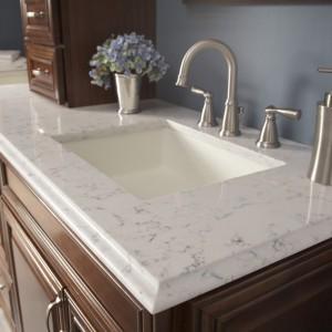 stone vanity countertops in Silestone Lyra