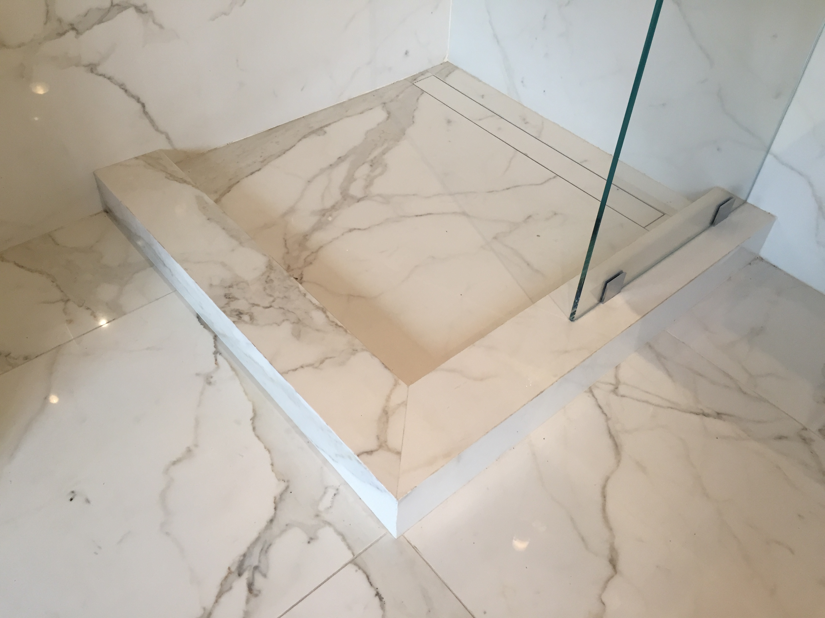 Groutless Shower Pans | Stone Shower Floor | Virginia DC Maryland