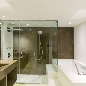 Groutless Shower Walls In Neolith Ultra Compact
