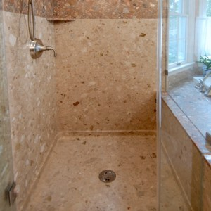 douche granit pans base floor shower en plus