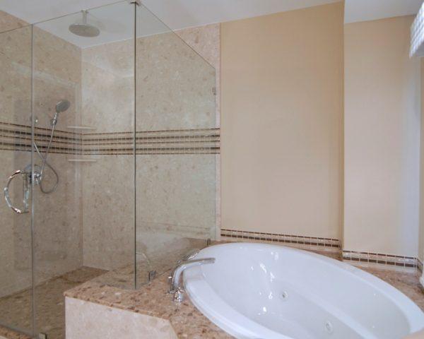 Verona Showers and Tub Deck in Santa Margherita Marble